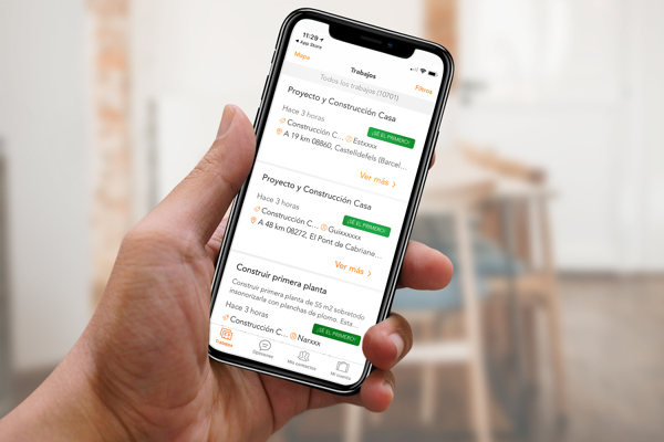 Ottieni lavori dallo smartphone con l'app Habitissimo Pro